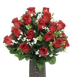 Cemetery headstone sprays make silk headstone saddle arrangement rose silk flower bouquet mightylinksfo Choice Image