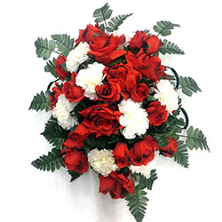 Cemetery flowers artificial cemetery flowers honor your loved one silk rose flower memorial spray graveside mightylinksfo