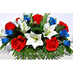 Cemetery flowers artificial cemetery flowers honor your loved one gravesite flowers for graves mightylinksfo