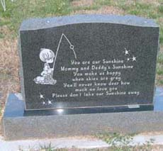 affordable infant headstones