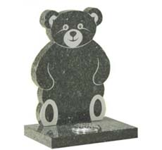 bear shaped memorial headstone