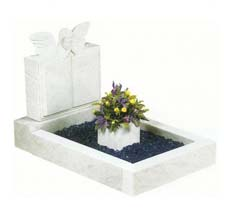 angel infant headstone