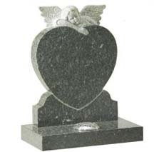 heart shaped child memorial stone