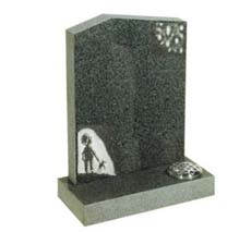 evergreen infant headstone