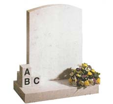 upright infant headstone
