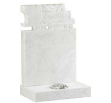 white marble headstone for kids