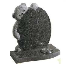 teddy bear infant headstone