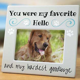 bereavement photo frame for dog or cat