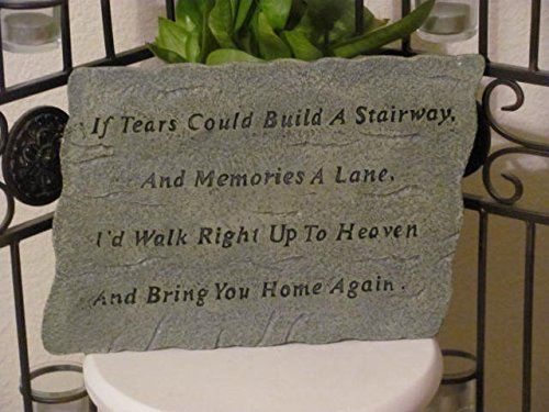 pet memorial stone with poem
