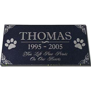 Black Granite Garden Plaque