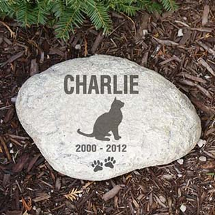 Customize Cat Memorial Garden Stone