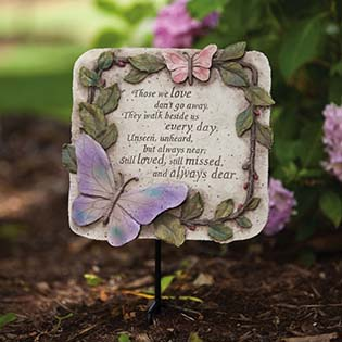 those we love don't go away memorial stepping stone