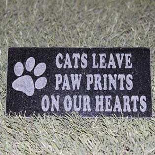 Cat Paw Pet Memorial Marker