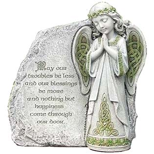 Irish Angel Praying Outdoor Garden Stone