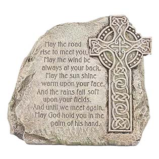 Irish Blessing Celetic Garden Stone