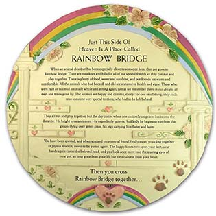 Rainbow ridge Pet Memorial Stone
