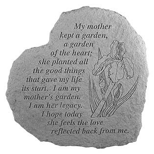 my mother kept a garden memorial stone
