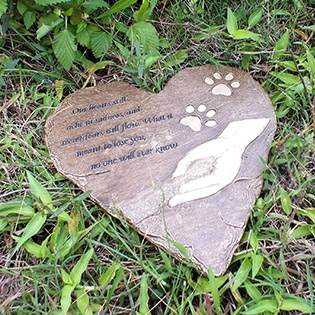 pet heart garden decoration stone