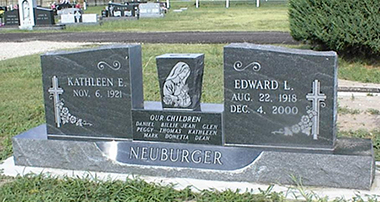 wing-style headstone